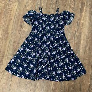 Children's Place Girl's Floral Off Shoulder Dress